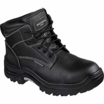 スケッチャーズ ブーツ Work Burgin Tarlac Steel Toe Boot Black