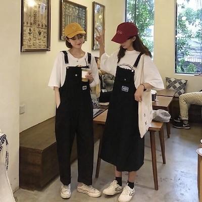 2021 春夏 激安韓国 原宿オーバーオール サロペット スカート パンツ ゆったり オルチャン 韓国ファッション ワンピース オールインワン