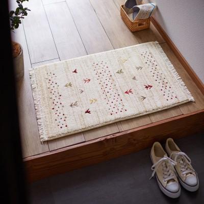 ギャッベ風デザインのウィルトン織り玄関マット