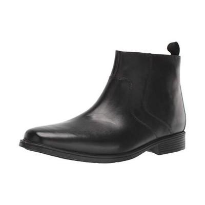 Clarks Men's Tilden Zip II Waterproof Boot Ankle, Black Leather, 12 M US並行輸入品