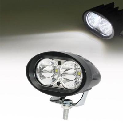 2個セット!汎用LEDフォグランプ ツインタイプ ホワイト 20W 防水 オフロード リフレクター フォグライト バイク 車 四駆 C966