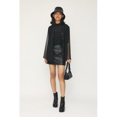 スカート SKIN LEATHER MINI スカート/レザーミニスカート