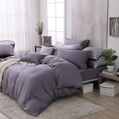 OLIVIA  Mars 灰紫 雙人床包兩用被套四件組  300織銀纖維天絲萊賽爾 台灣製