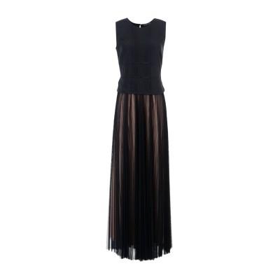 ツインセット シモーナ バルビエリ TWINSET ロングワンピース&ドレス ブラック 38 100% ポリエステル ロングワンピース&ドレス