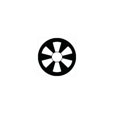 家紋シール 六つ日足紋 直径10cm 丸型 白紋 2枚セット KS10M-3076W