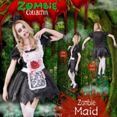 コスプレ 仮装 ZOMBIE COLLECTION Zombie Maid(ゾンビメイド) コスプレ 衣装 ハロウィン 仮装 ゾンビ メイド コスチューム 大人用 パーテ