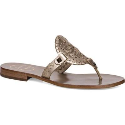 ジャックロジャース Jack Rogers レディース ビーチサンダル トングサンダル シューズ・靴 Georgica Thong Sandal Platinum