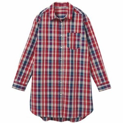 【バーゲン】UVケア綿混ロングシャツ(洗濯機OK) S M|2376-312134
