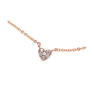 【Creamdot.】煌めくビジューのプチハートモチーフ華奢ネックレス ネックレス(ペンダント)