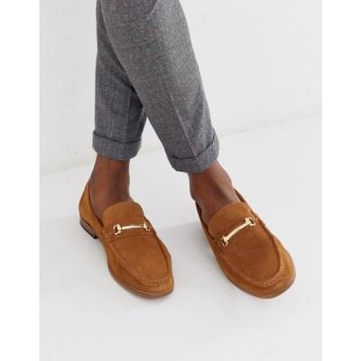 モス ブラザーズ MOSS BROS メンズ ローファー シューズ・靴 Moss London buckle loafer in tan タン