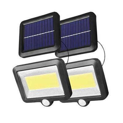 100COB分離型超明るいLEDソーラーライト センサーライト 5mコード付 Lamake 太陽光発電電気代不要 昼間自動充電夜?
