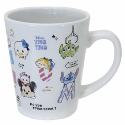 ディズニーツムツム マグカップ 磁器製 MUG アルファベット ディズニー プレゼント キャラクター グッズ