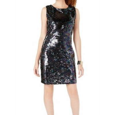 Sequin  ファッション ドレス Crystal Doll NEW Blue Black Size Small S Junior Sequin Sheath Dress