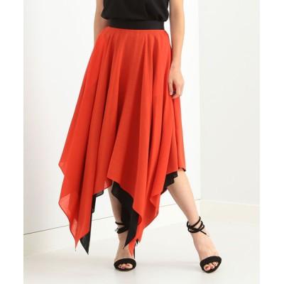 BEAMS WOMEN / CINOH / ウール ドレープスカート WOMEN スカート > スカート