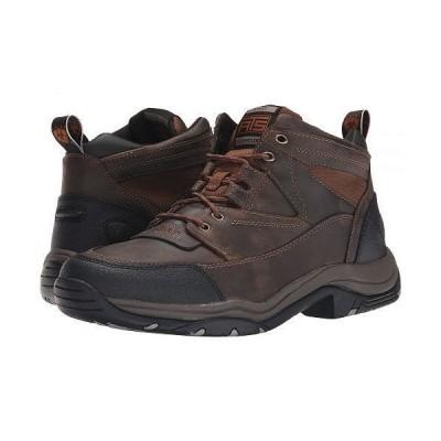 Ariat アリアト メンズ 男性用 シューズ 靴 ブーツ ハイキング トレッキング Terrain - Distressed Brown