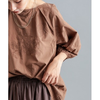 pual ce cin / 大花刺繍ブラウス WOMEN トップス > シャツ/ブラウス