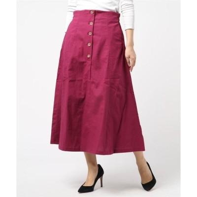 スカート 綿プリペラフレアロングスカート