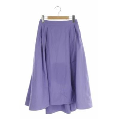 【中古】ロペ ROPE 18SS スカート フレア ロング 撥水加工 36 紫 /KN ■OS レディース