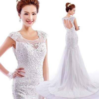マーメイドドレス ウエディングドレス 安い ロングドレス 結婚式 ブライダル ウェディングドレス 二次会 マーメイドラインドレス 大きいサイズ wedding dress