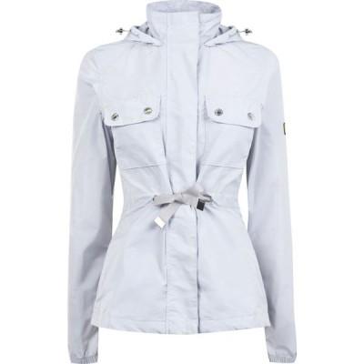 バブアー Barbour International レディース ジャケット アウター Barbour Curveball Showerproof Jacket Ice White SMU