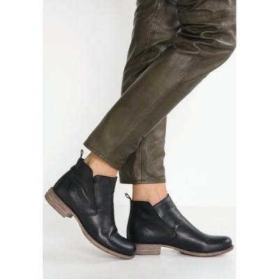 アンナフィールド ブーツ&レインブーツ レディース シューズ LEATHER BOOTIES - Ankle boots - black