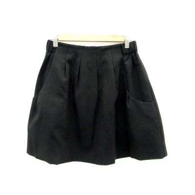 【中古】アナトリエ ANATELIER スカート フレア ミニ丈 38 黒 ブラック /HO18 レディース 【ベクトル 古着】