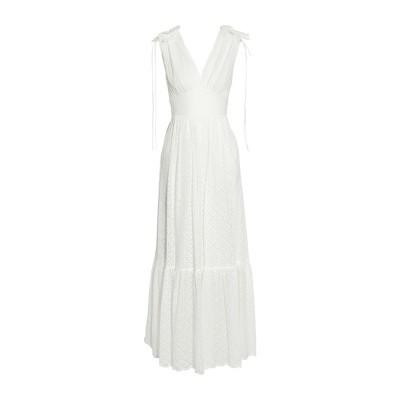 テンパリー・ロンドン TEMPERLEY LONDON ロングワンピース&ドレス ホワイト 6 ナイロン 51% / コットン 49% ロングワンピ