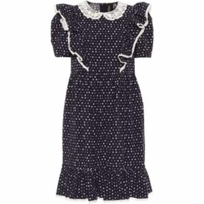 マーク ジェイコブス Marc Jacobs レディース ワンピース ワンピース・ドレス The Shirley cotton-blend dress Navy