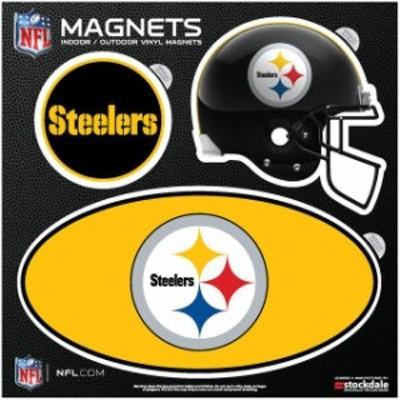 Stockdale ストックデール スポーツ用品  Pittsburgh Steelers Indoor & Outdoor 3-Pack Magnet Set
