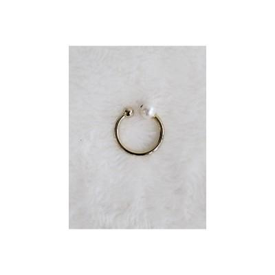 ユーカリプト ucalypt イヤーカフ ゴールド パール アクセサリー 指輪 真鍮 金めっき パール BUD SIMPLE CUFF -PEARL-Lady's-