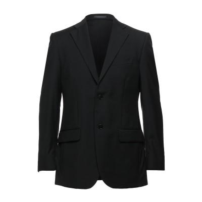 LUBIAM テーラードジャケット ブラック 48 バージンウール 100% テーラードジャケット