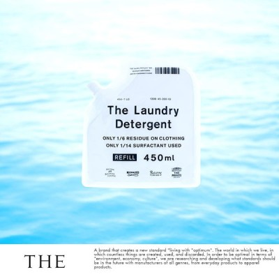 洗剤 洗濯 男の洗剤 THE (ザ) 詰め替え用 日本製 洗濯洗剤 The Laundry Detergent 詰替用 450ml入  メンズ 国産