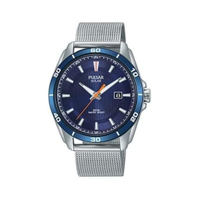 腕時計 パルサー SEIKO PX3173X1 Pulsar PX3173X1 Gents Stainless Steel Solar Powered Watch on Mesh Bracel