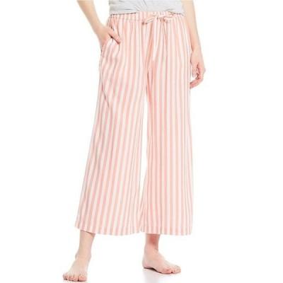 ジャスミンアンド ジンジャー レディース カジュアルパンツ ボトムス Yarn-Dye Striped Print Wide Leg Cropped Sleep Pants