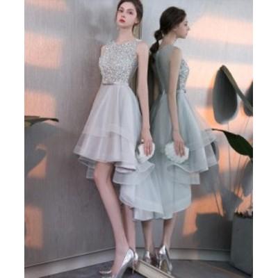 お呼ばれ品質良い ウェディングドレス フォーマル 二次会 結婚式花嫁 ミモレ丈 ワンピース 20代30代 不規則なパーティードレス