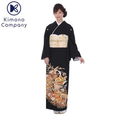 留袖レンタル mito-495 徳川の美 唐草流水に舞鶴 唐草と観世流水文様を重ねた落ち着いた構図の留袖です。お祝いの席にふさわしい柄行です。