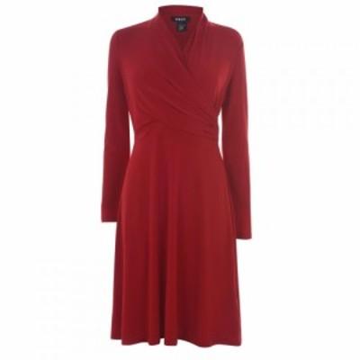 ディーケーエヌワイ DKNY Occasion レディース ワンピース ラップドレス ワンピース・ドレス Wrap Dress SCARLET