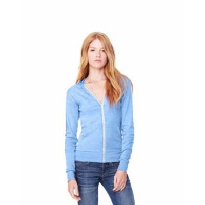 ファッション トップス Clementine Womens Triblend Sponge Fleece Full-Zip Hoodie CLM3909TN All Sizes