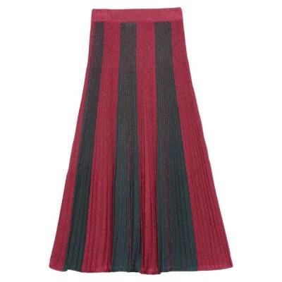 VICOLO 七分丈スカート  レディースファッション  ボトムス  スカート  ロング、マキシ丈スカート ボルドー