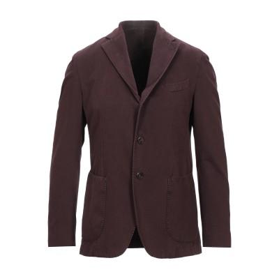 LA VIE EST BELLE テーラードジャケット ボルドー 48 コットン 97% / カシミヤ 3% テーラードジャケット
