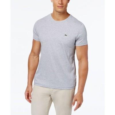 ラコステ Tシャツ トップス メンズ Men's Crew Neck Pima Cotton T-Shirt Grey Chine