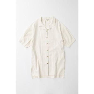 TUCK SLEEVE ロングシャツ O/WHT1