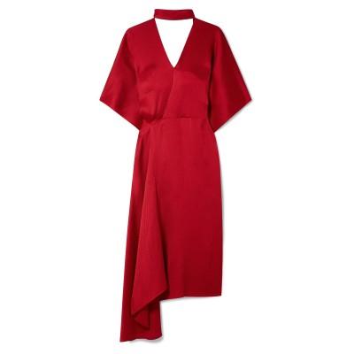 ローラン ムレ ROLAND MOURET 7分丈ワンピース・ドレス レッド 18 シルク 100% 7分丈ワンピース・ドレス