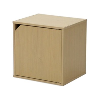 キューブボックス カラーボックス キューブ ラック 棚 扉付 ナチュラル おしゃれ パズルラック 収納棚 シェルフ 本棚 戸棚 扉 キャビネット