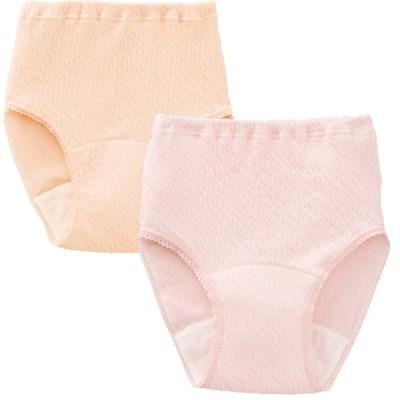 リップル安心快適ショーツ(2枚組) パンツ 下着 肌着 (レディース 婦人 女性 おばあちゃん服)