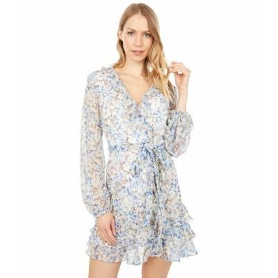 バードット ワンピース トップス レディース Triple Frill Floral Dress Blue Ditsy