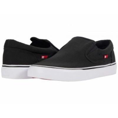 DC ディーシー メンズ 男性用 シューズ 靴 スニーカー 運動靴 Trase Slip-On TX Black/White【送料無料】