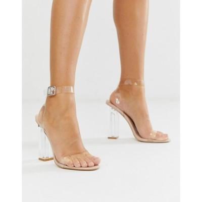 パブリックデザイア レディース ヒール シューズ Public Desire Alia Perspex Heeled Sandals