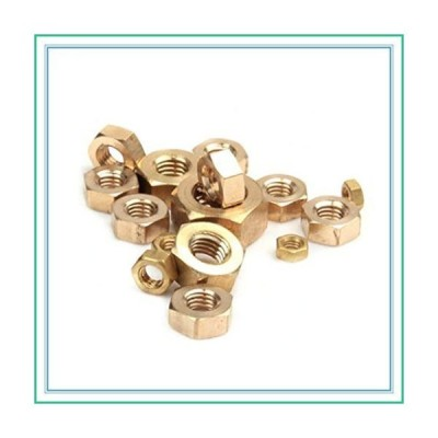 ShineBear 50pcs M1.6 M2 M2.5 M3 M4 M5 M6 M8 M10 M12 Copper Hexagonal Brass Hex Nuts Hexagon Nuts - (Size: M12 1PCS)【並行輸入品】