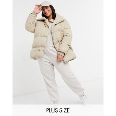 スリードベア Threadbare Curve レディース ダウン・中綿ジャケット アウター dorota oversized padded jacket ベージュ
